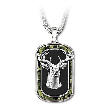 Nature's Majesty Men's Dog Tag Pendant Necklace