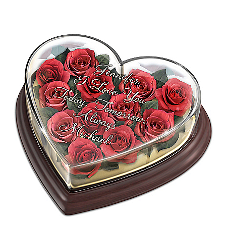 Love Blooms Forever Personalized Musical Floral Centerpiece