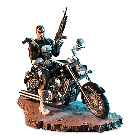 MARVEL The Punisher Hand-Painted Masterpiece Sculpture
