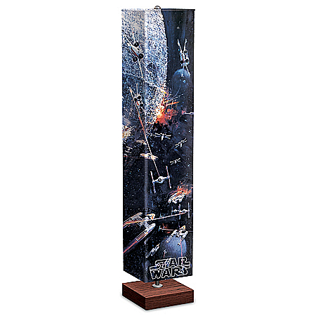 Star Wars Battle Of The Death Star Floor Lamp With Foot Pedal Switch