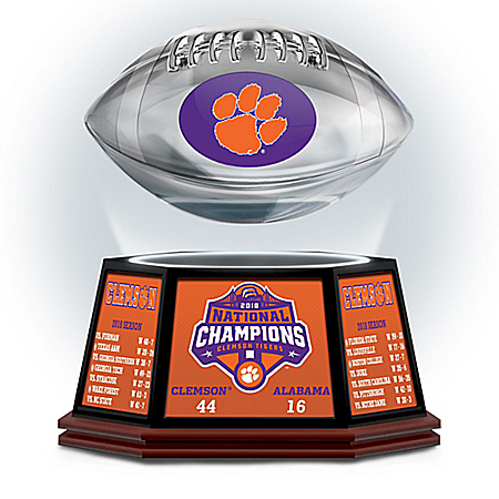 Clemson 2018 Football National Champions Levitating Football
