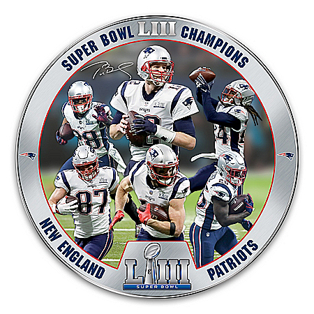 Super Bowl LIII Champions New England Patriots Heirloom Porcelain NFL Collector Plate