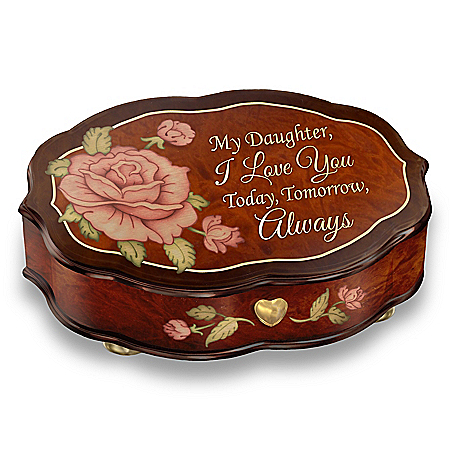 Love You Always Wooden Music Box For Daughters