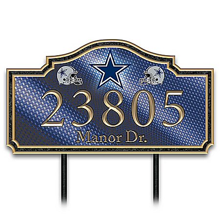 Dallas Cowboys Personalized NFL Outdoors Address Sign