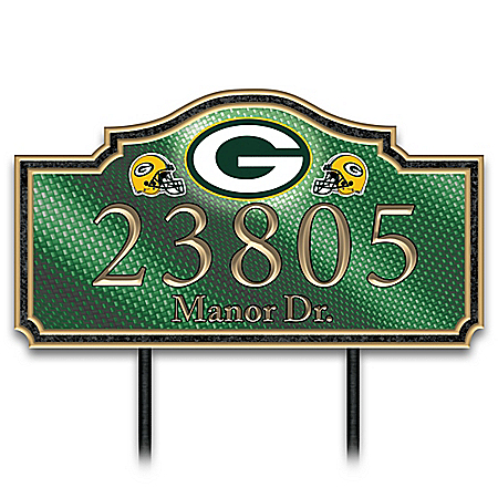 Green Bay Packers Personalized NFL Outdoors Address Sign
