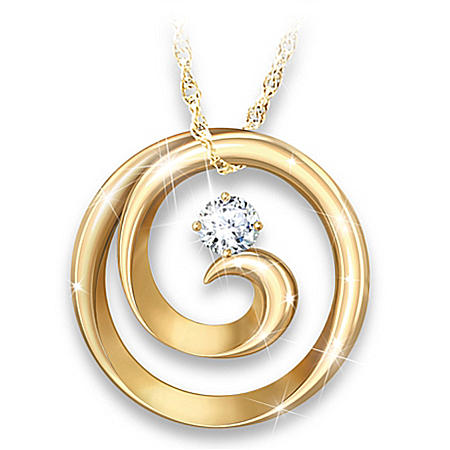 Maya Angelou-Inspired 18K-Gold Plated Spiral Pendant