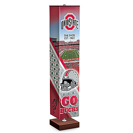 The Ohio State University Buckeyes Floor Lamp With Foot Pedal Switch