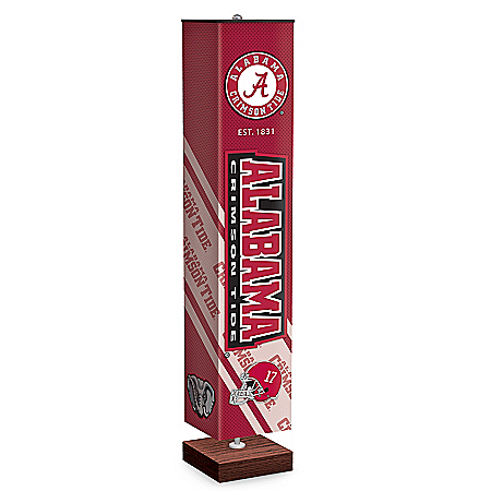 University Of Alabama Crimson Tide Floor Lamp With Foot Pedal Switch