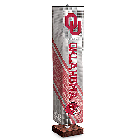 University Of Oklahoma Sooners Floor Lamp With Foot Pedal Switch