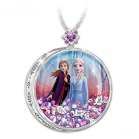 Disney FROZEN 2 Floating Crystal Pendant Necklace
