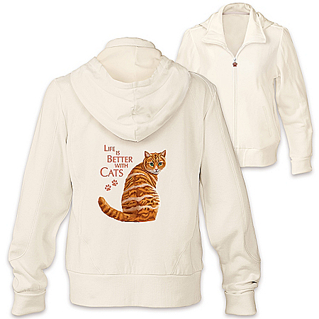 Life Is Better With Cats Hoodie: Choose Your Cat Portrait