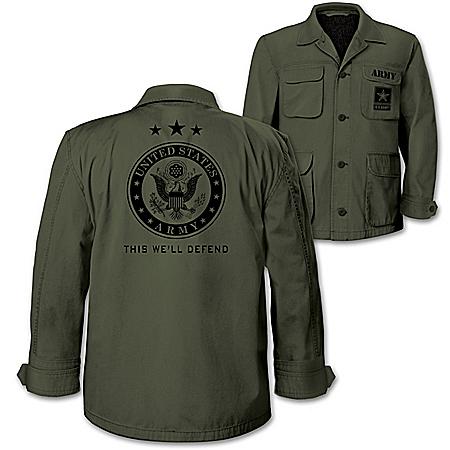 U.S. Army Men's Olive Lightweight Twill Field Jacket