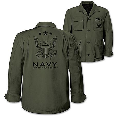 U.S. Navy Men's Olive Lightweight Twill Field Jacket