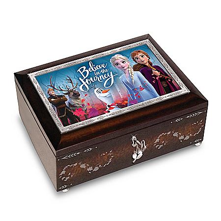 Disney FROZEN 2 Mahogany-Finished Heirloom Music Box