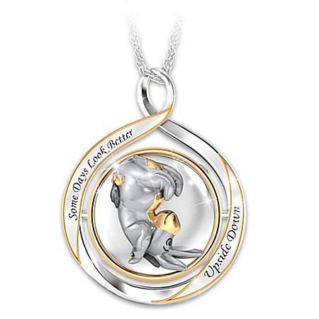 Disney Eeyore Some Days … 2-in-1 Flip Necklace