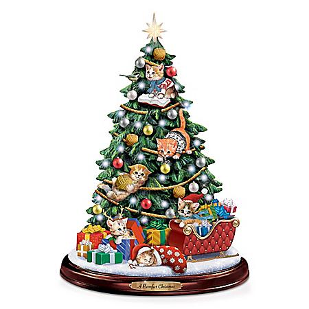 Jürgen Scholz A Purrrfect Christmas Illuminated Tree