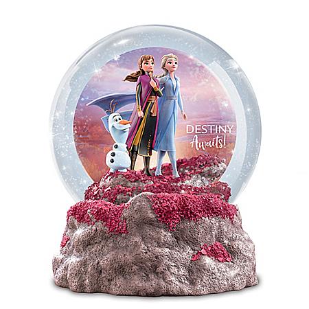 Disney FROZEN 2 Destiny Awaits Illuminated Glitter Globe