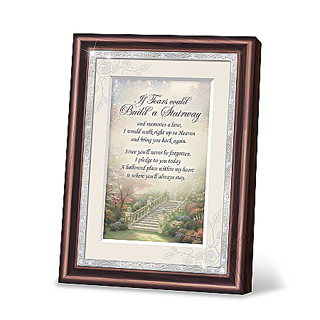 Thomas Kinkade If Tears Could Build A Stairway Heirloom Poem Frame