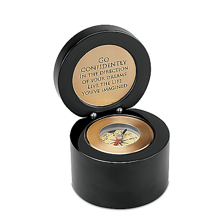 Monogrammed Keepsake Box With Compass