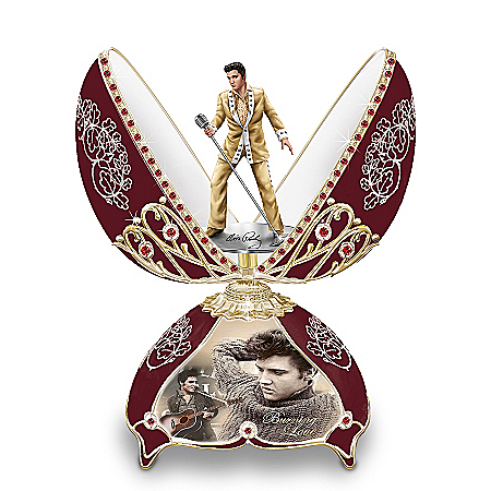 Elvis In Concert Peter Carl Faberge-Style Egg Music Box