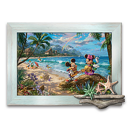 Disney Thomas Kinkade Personalized Tropical Beach Wall Decor