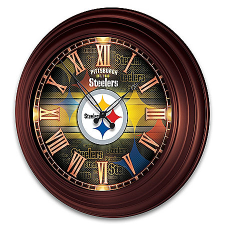 Pittsburgh Steelers Outdoor Illuminated NFL Atomic Wall Clock