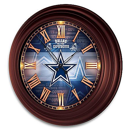 Dallas Cowboys Outdoor Illuminated NFL Atomic Wall Clock
