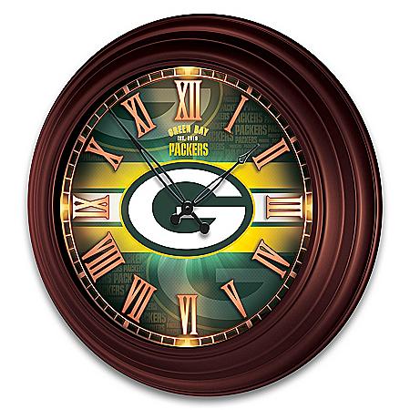 Green Bay Packers Illuminated Atomic Wall Clock