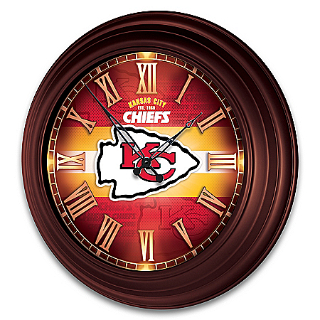 Kansas City Chiefs Illuminated Atomic Wall Clock