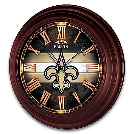 New Orleans Saints Illuminated Atomic Wall Clock
