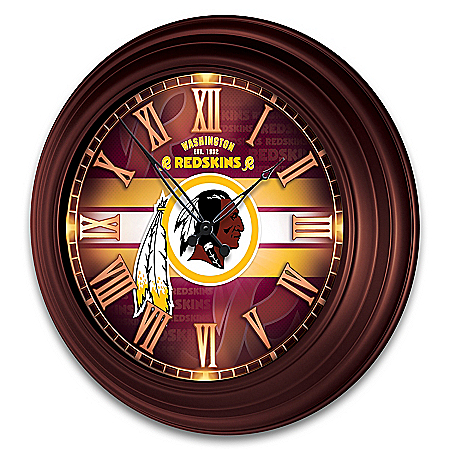 Washington Redskins Outdoor Illuminated NFL Atomic Wall Clock