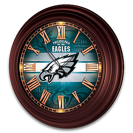 Philadelphia Eagles Illuminated Atomic Wall Clock