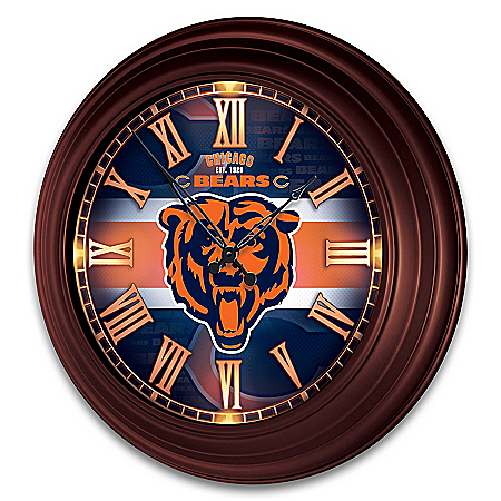 Chicago Bears Illuminated Atomic Wall Clock