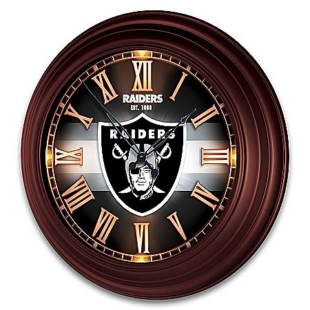 Las Vegas Raiders Outdoor Illuminated NFL Atomic Wall Clock