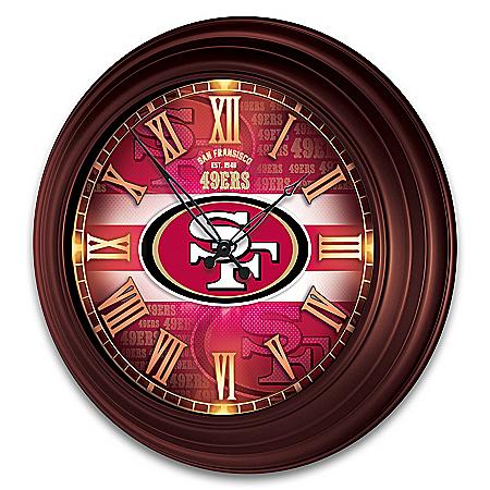 San Francisco 49ers Illuminated Atomic Wall Clock