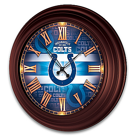 Indianapolis Colts Illuminated Atomic Wall Clock