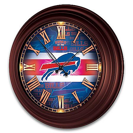 Buffalo Bills Illuminated Atomic Wall Clock