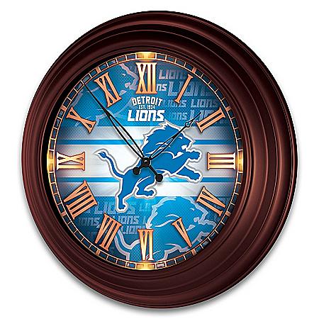 Detroit Lions Illuminated Atomic Wall Clock