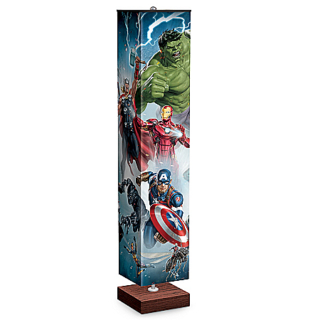 MARVEL Avengers Floor Lamp With Foot Pedal Switch