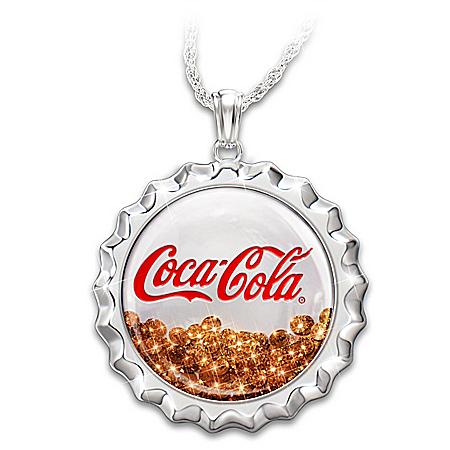 COCA-COLA Pop 'N Fizz Necklace With Swarovski Crystals