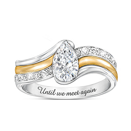 Remember Me Diamond Ring With Over 1 Carat Of White Topaz