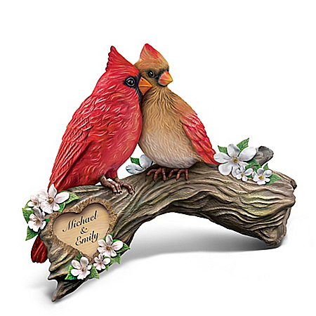 Perfect Pair Personalized Hand-Painted Songbird Sculpture