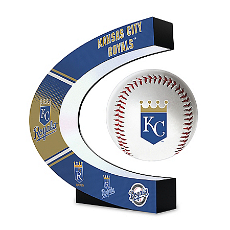 Kansas City Royals Levitating MLB Baseball Sculpture
