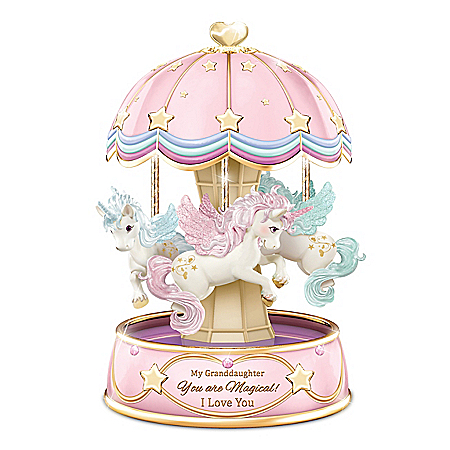 My Granddaughter, You Are Magical Musical Unicorn Carousel