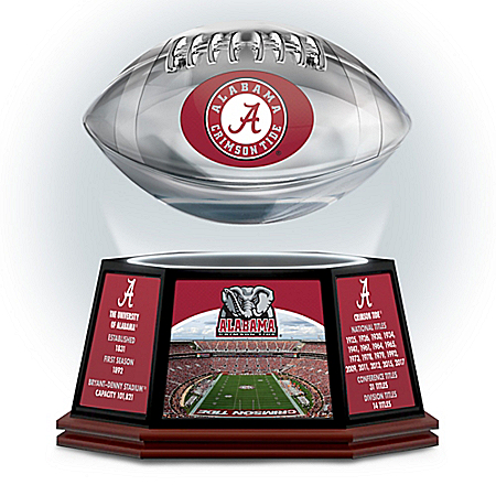 University Of Alabama Crimson Tide Illuminated Levitating Football