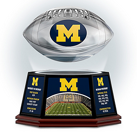 University Of Michigan Wolverines Levitating Football Sculpture