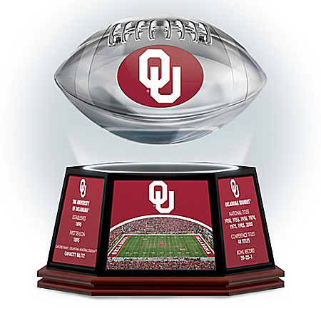 University Of Oklahoma Sooners Levitating Football