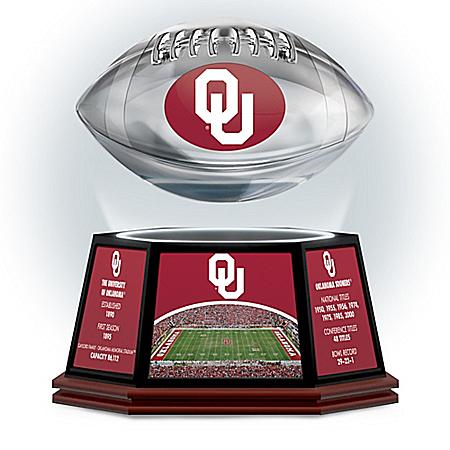 University Of Oklahoma Sooners Levitating Football