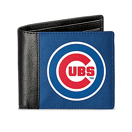 Chicago Cubs Men's RFID Blocking Leather Wallet