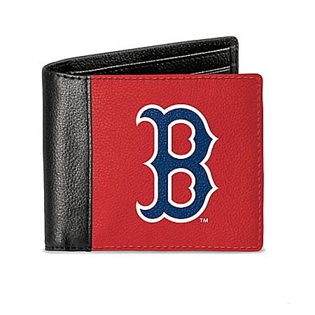 Boston Red Sox Men's RFID Blocking Leather Wallet